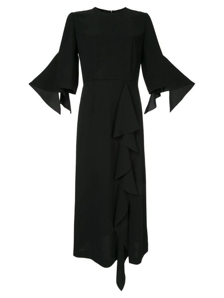 Goen.J Ruffle-trimmed dress - Black
