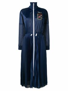 Red Valentino track jacket dress - Blue