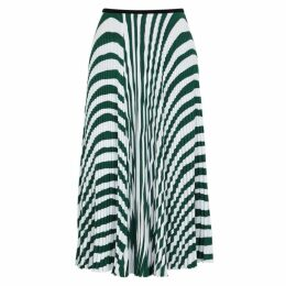 Calvin Klein 205W39NYC Striped Pleated Jersey Midi Skirt