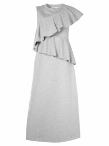 Goen.J ruffle-trimmed midi dress - Grey
