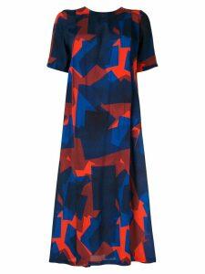 Henrik Vibskov Overdue printed dress - Blue