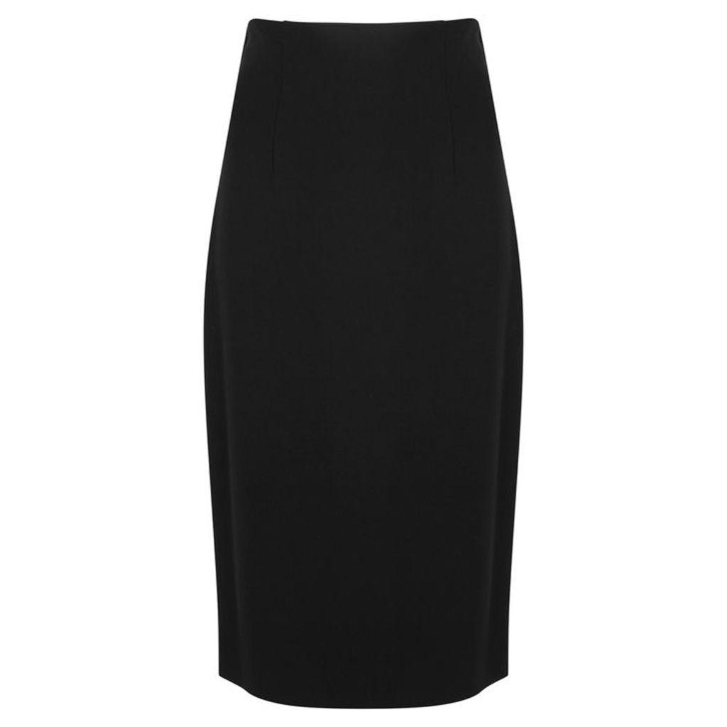 VERSACE Black Stretch-jersey Pencil Skirt