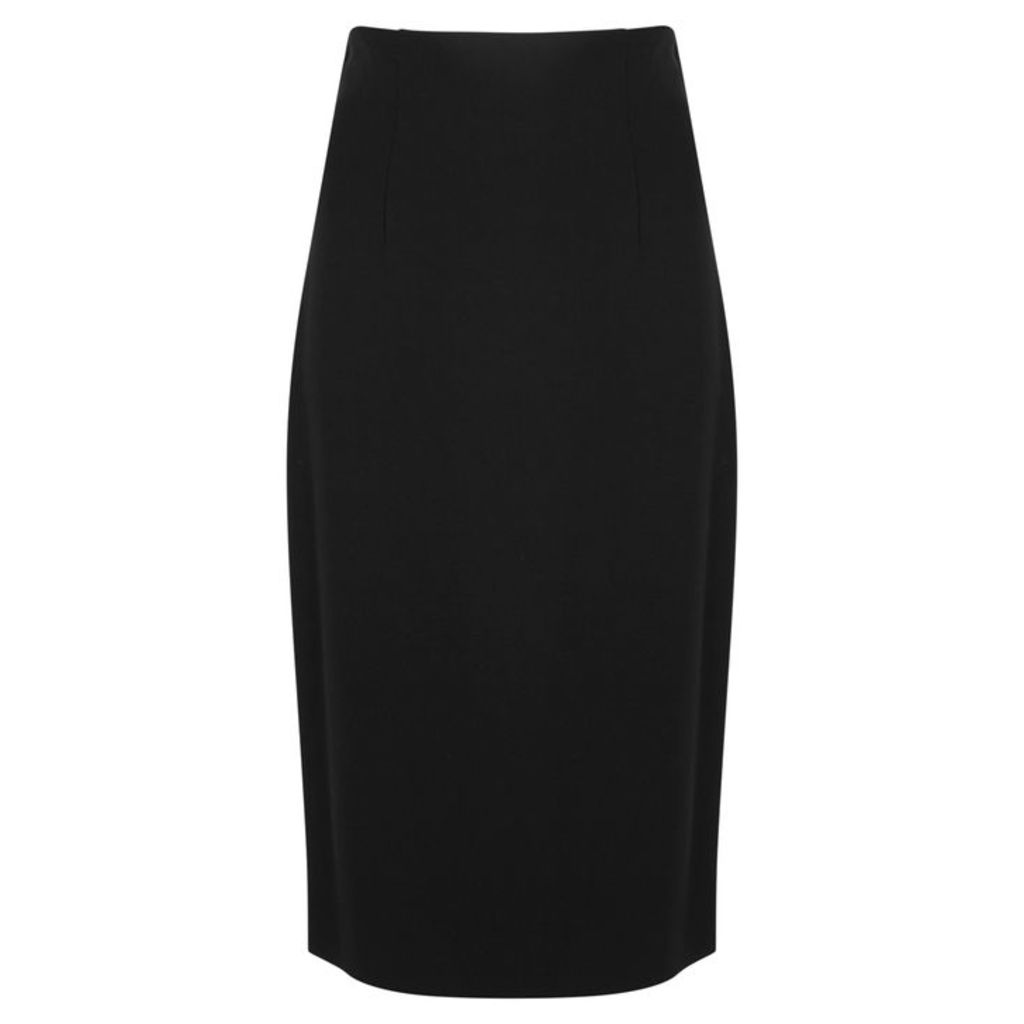 VERSACE Black Stretch-jersey Pencil Skirt