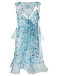 Ermanno Scervino floral tulle dress - Blue