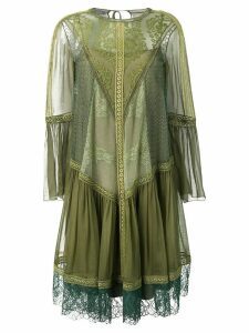Alberta Ferretti lace detailed dress - Green