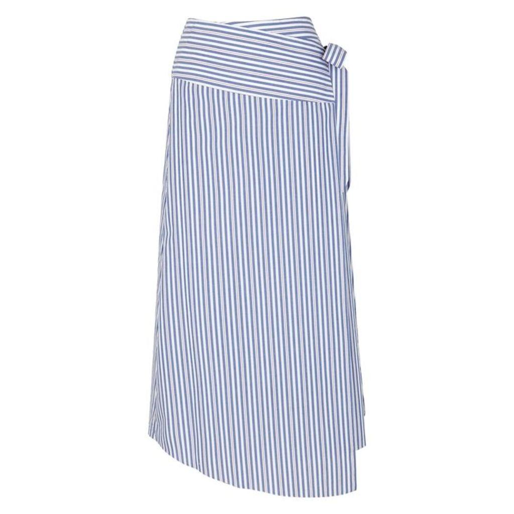 VIVETTA Milano Striped Cotton Wrap Skirt