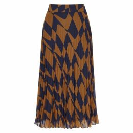 BOSS Matara Printed Chiffon Midi Skirt
