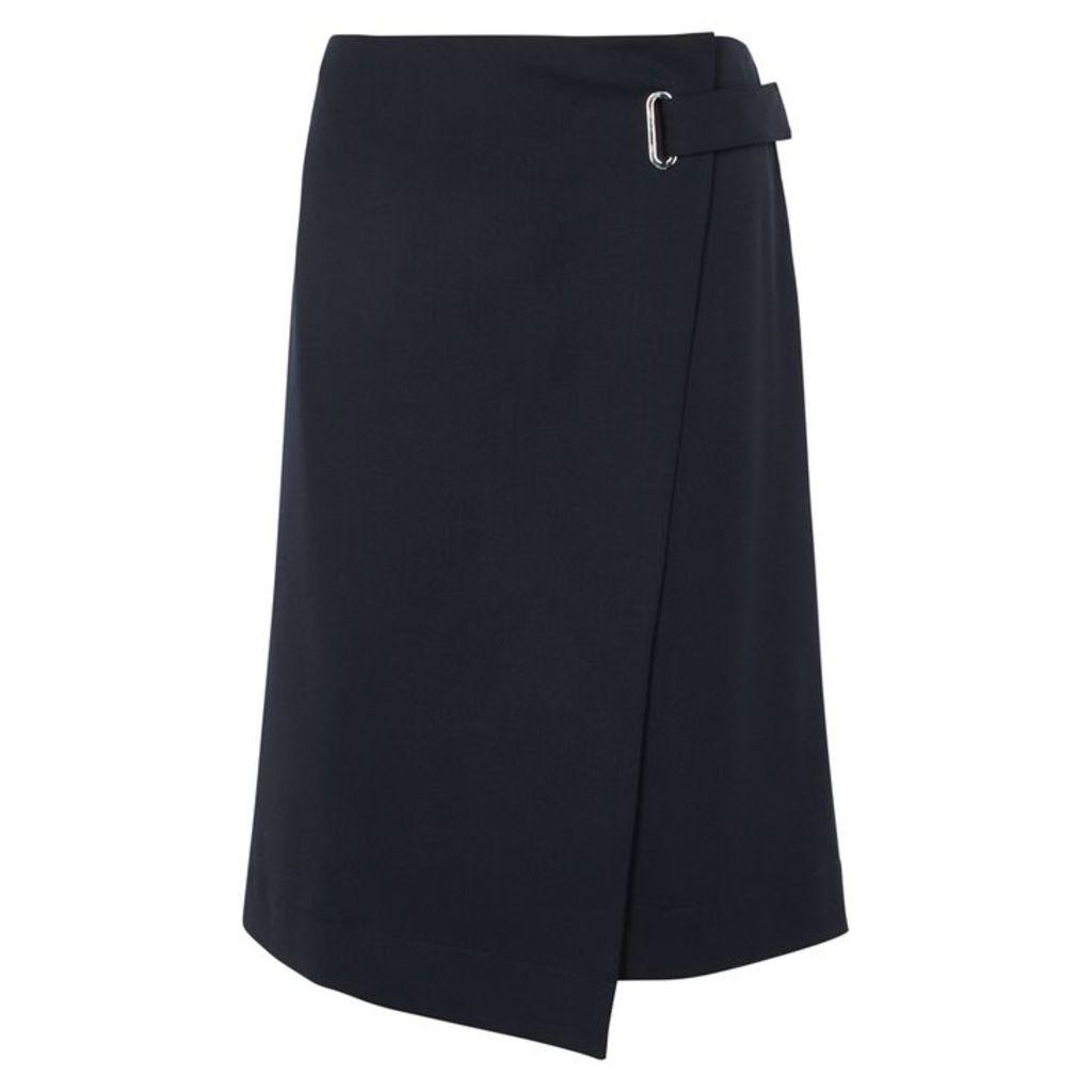Filippa K Navy Twill Wrap Skirt