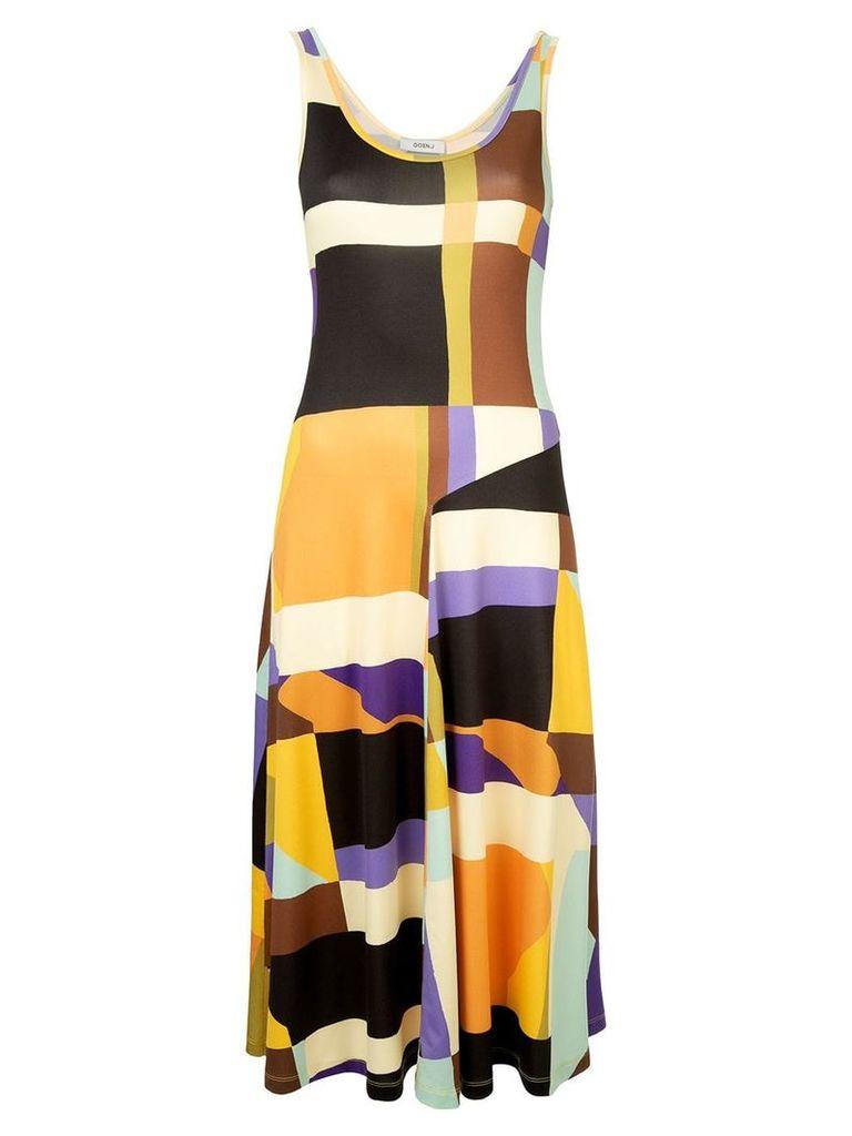Goen.J geometric pattern dress - Multicolour
