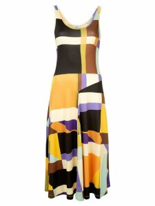 Goen.J geometric pattern dress - Multicolour