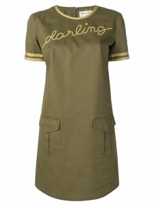 Saint Laurent Darling mini dress - Green