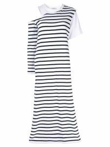 Goen.J asymmetric sleeve dress - White