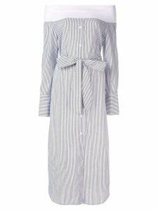Goen.J off-the-shoulder striped dress - Black