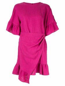 Goen.J ruffle-trimmed wrap dress - Pink
