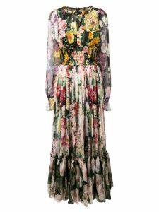 Dolce & Gabbana long floral print dress - Neutrals