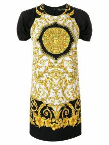 Versace Baroque-print dress - Black