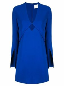 Dion Lee layered mini dress - Blue