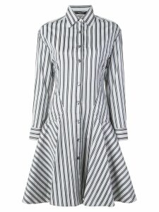 Derek Lam Long Sleeve Button-Down Shirt Dress - Blue