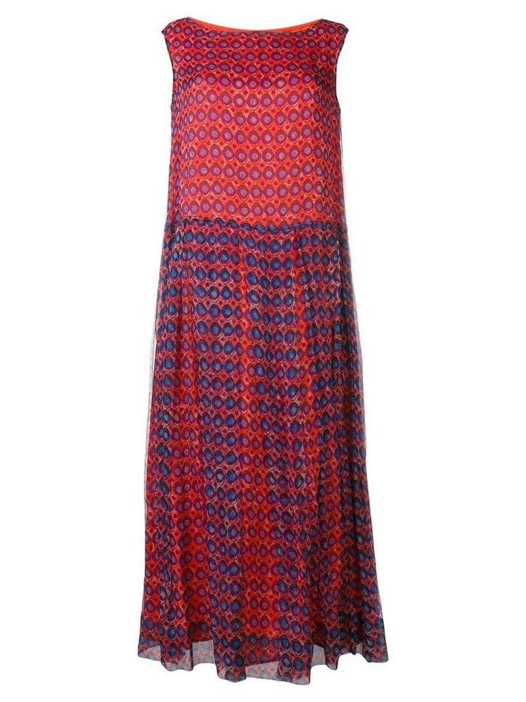 Aspesi geometric print maxi dress - Red