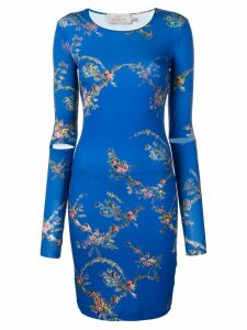Preen By Thornton Bregazzi floral print mini dress - Blue