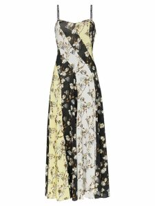 Off-White floral print side split dress - Black