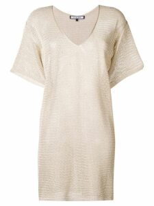 Fisico knitted shift dress - Gold