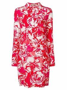 Roberto Cavalli wrap-around midi dress - Red