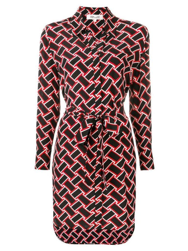 Dvf Diane Von Furstenberg printed shirt dress - Black