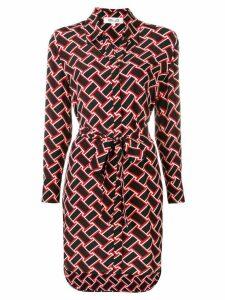 Diane von Furstenberg printed shirt dress - Black