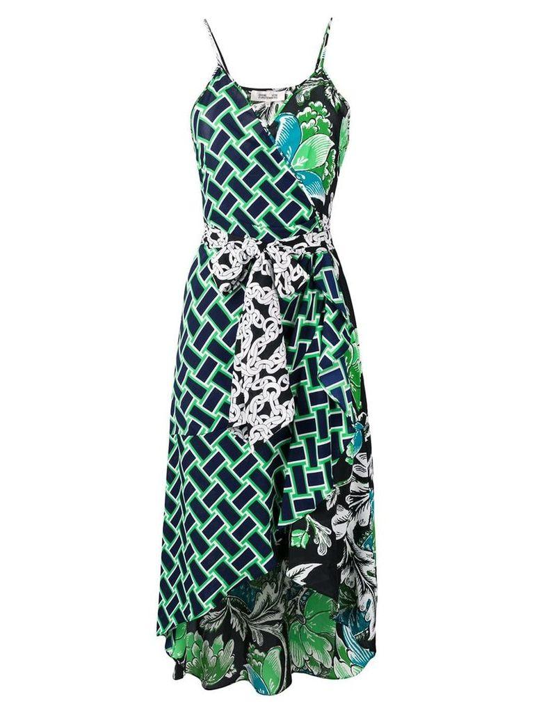 Dvf Diane Von Furstenberg belted asymmetric dress - Black