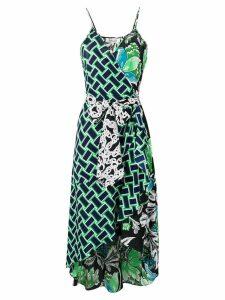 Diane von Furstenberg belted asymmetric dress - Black