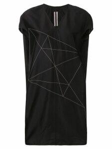 Rick Owens embroidered mini dress - Black