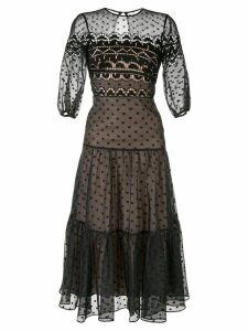 Temperley London polka dot midi dress - Black