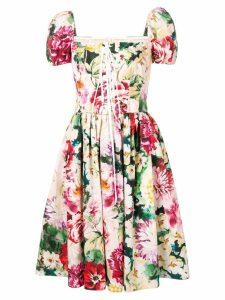Dolce & Gabbana floral print skater dress - Pink