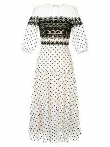 Temperley London polka dot midi dress - White