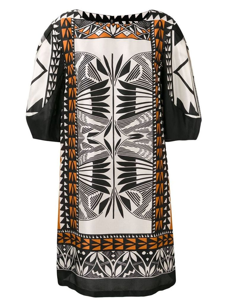 Alberta Ferretti printed shift dress - Black