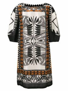 Alberta Ferretti printed shift dress - Black