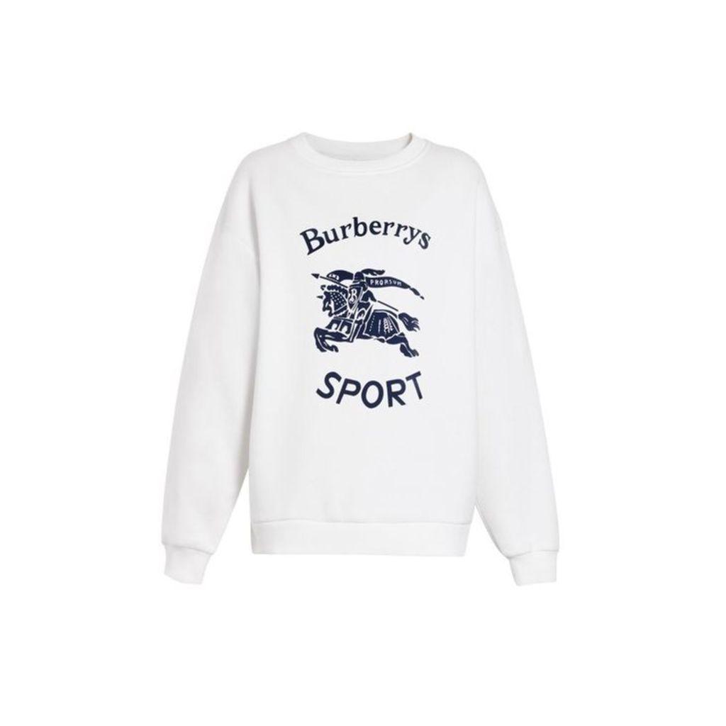 Burberry Archive Logo Cotton Blend Sweatshirt
