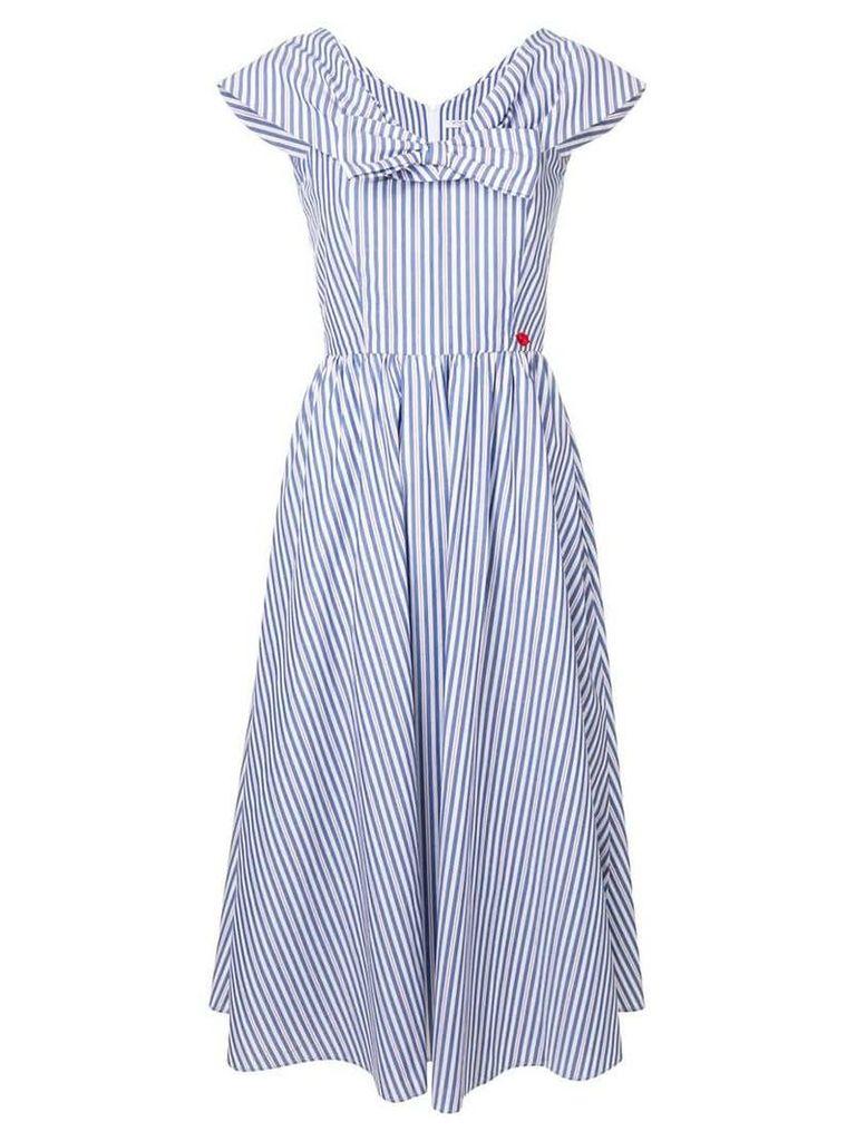 Vivetta bow-tie v-neck long dress - Blue