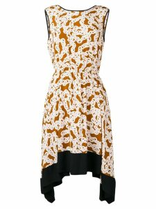 Dvf Diane Von Furstenberg chain print dress - Brown