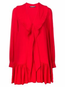 Alexander McQueen ruffled georgian dress - Red