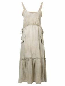 Golden Goose pinstriped maxi dress - Neutrals
