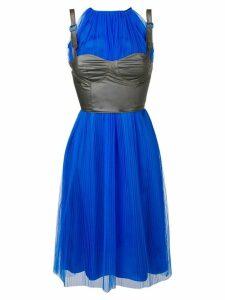Maison Margiela pleated layered corset dress - Blue