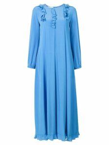 Sonia Rykiel ruffle detail dress - Blue