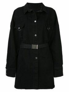 Pony Stone oversized shirt dress - Black
