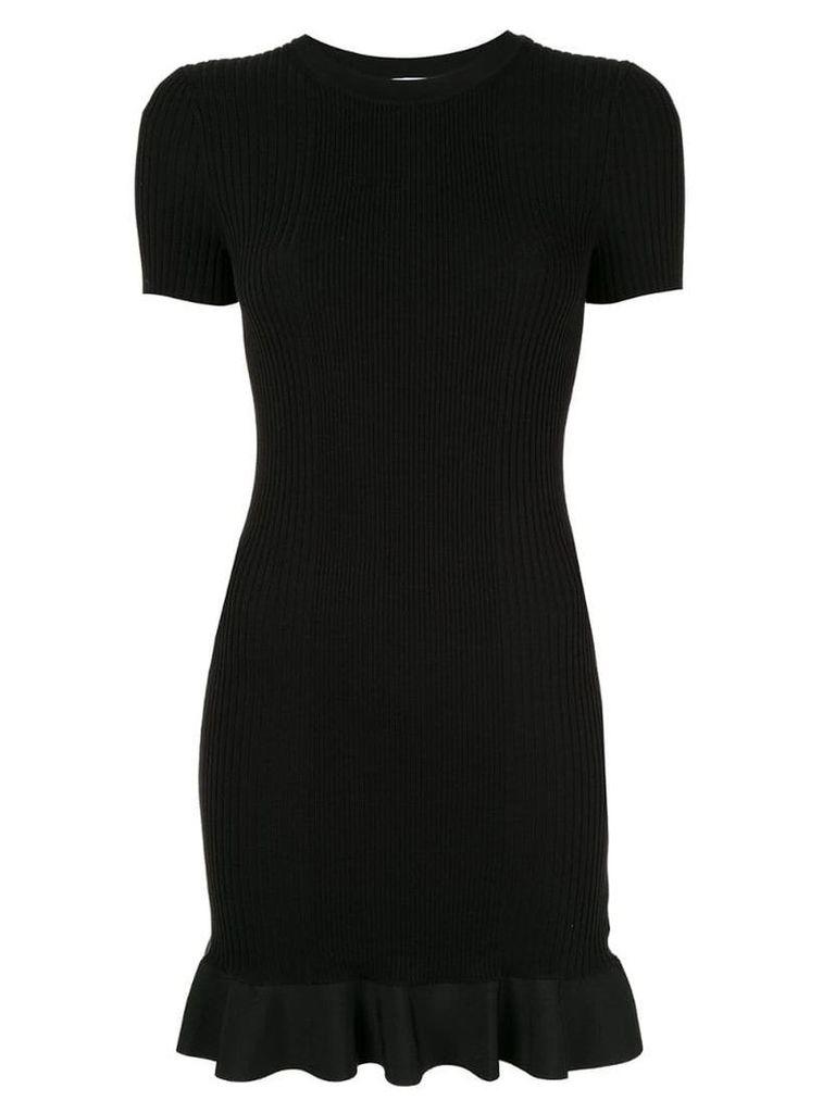 Alexander Wang short ribbed dress - Black