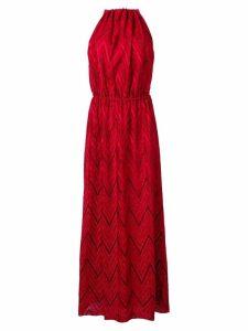 M Missoni sleeveless long dress - Red