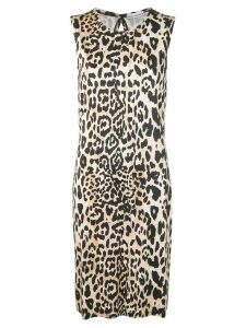 Paco Rabanne leopard print dress - Neutrals