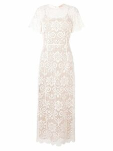 Erika Cavallini lacework long dress - Neutrals