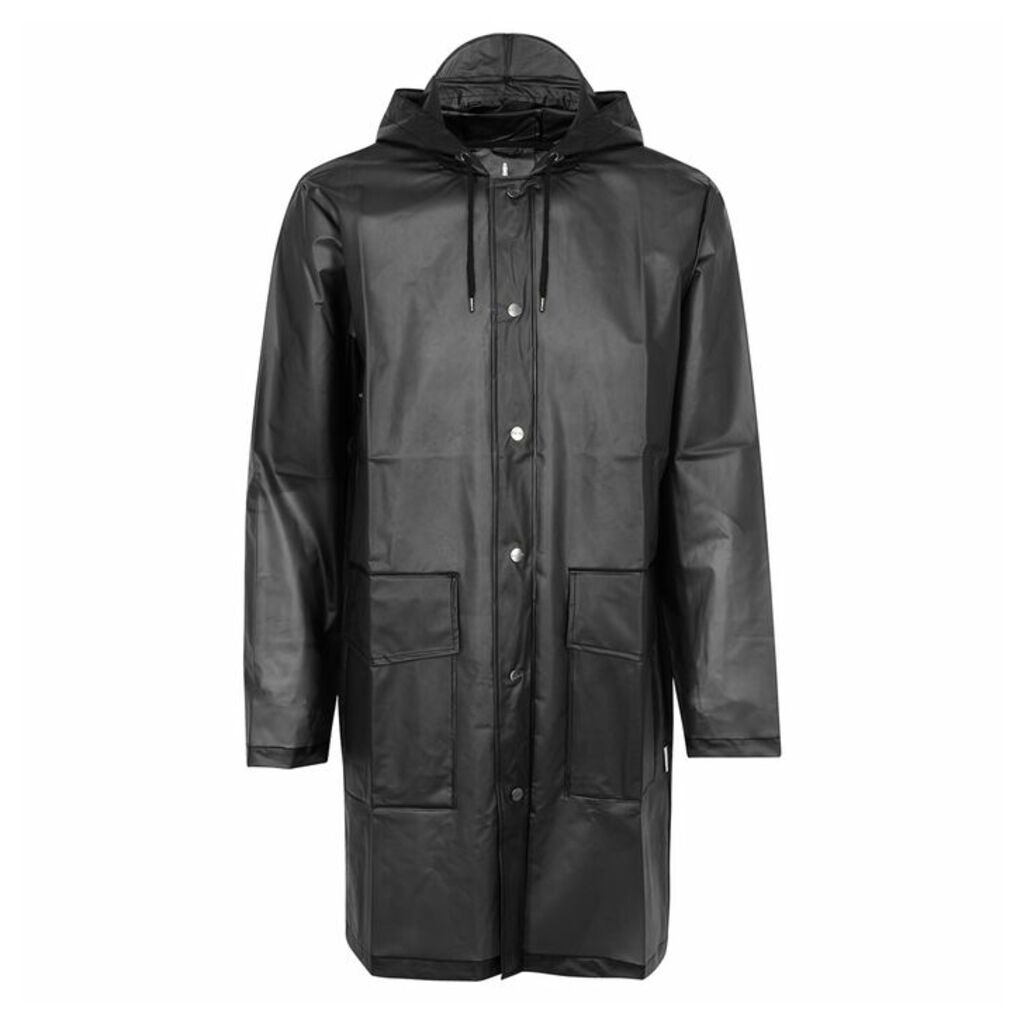 Rains Black Transparent Rubberised Raincoat